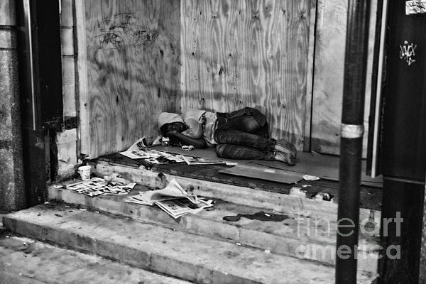 Homeless Print by Paul Ward
