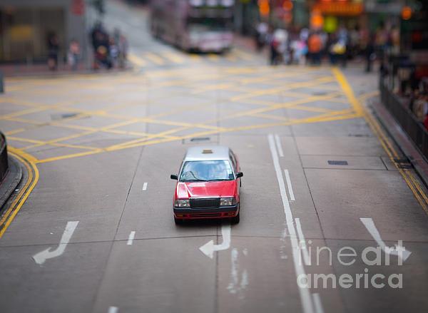 Hong Kong Taxicab Print by Ei Katsumata