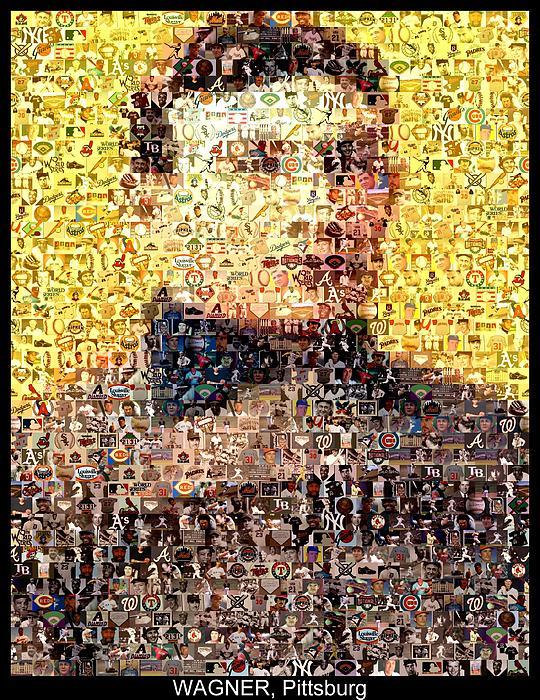 Honus Wagner Mosaic Print by Paul Van Scott