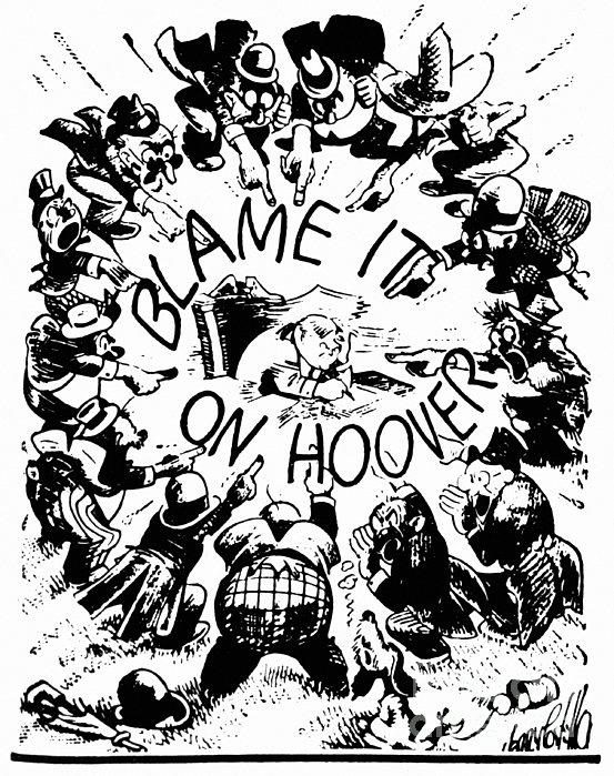 Hoover Cartoon, 1931 Print by Granger