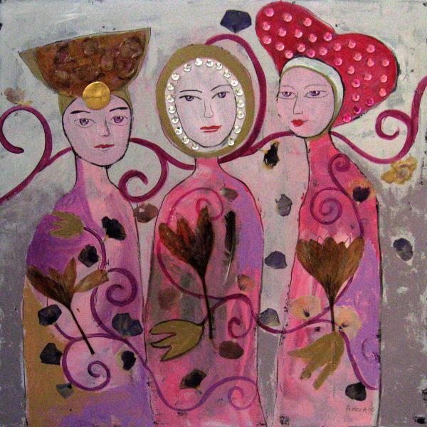 Hope Faith Love Print by Aliza Souleyeva-Alexander