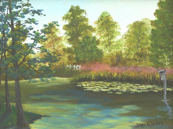 Hopeland Gardens Duck Pond By Jerry Walker