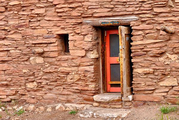 Hopi House Door Print by Julie Niemela