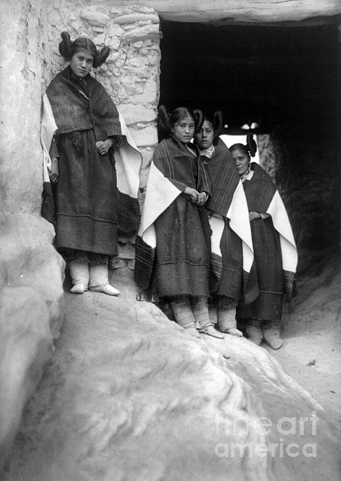 Hopi Maidens, 1906 Print by Granger