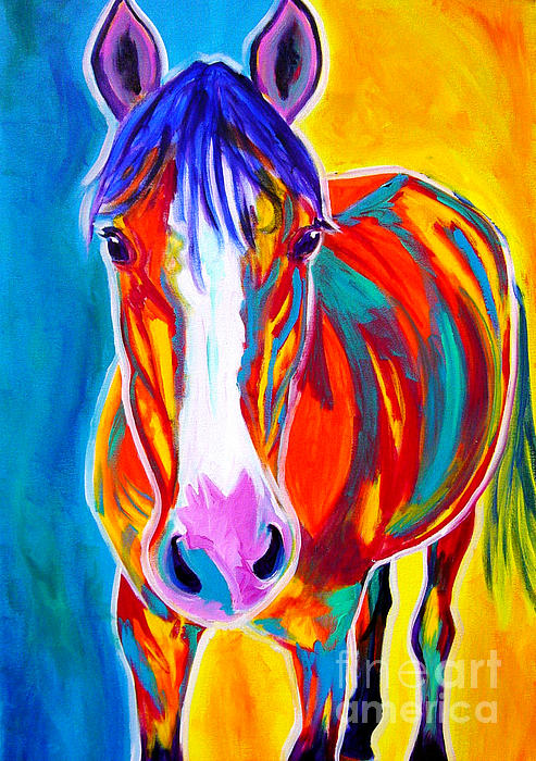 Horse - Pistol Print by Alicia VanNoy Call