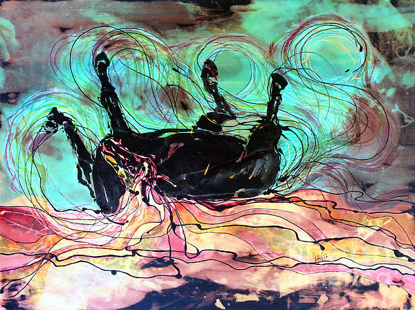 Horse Born Of Earth Water Sky Print by Carol Law Conklin