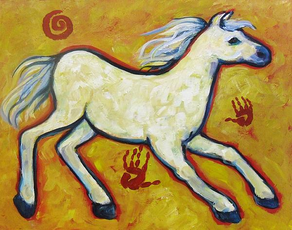 Horse Indian Horse Print by Carol Suzanne Niebuhr