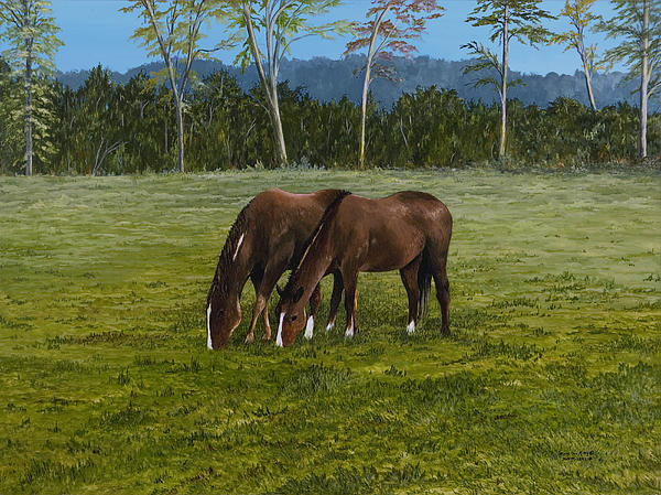 Horses Of Romance Print by Mary Ann King