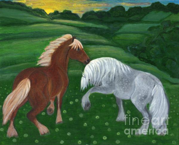 Horses Of The Rising Sun Print by Anna Folkartanna Maciejewska-Dyba