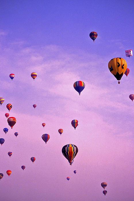Hot Air Balloon Race - 1 Print by Randy Muir