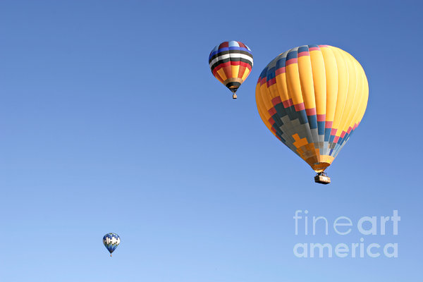 Hot Air Balloon Ride A Special Adventure Print by Christine Till