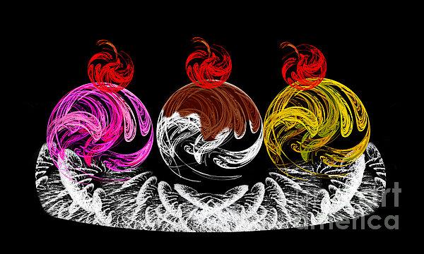 Hot Fudge Ice Cream Boat Print by Andee Design