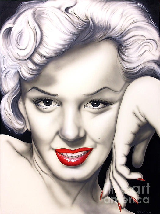Hot Lips Print by Bruce Carter