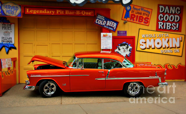 Hot Rod Bbq Print by Perry Webster