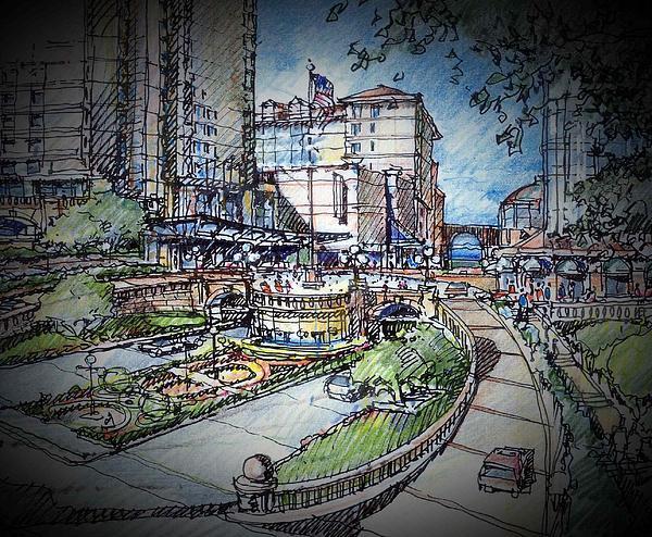 Hotel Plaza Print by Andrew Drozdowicz