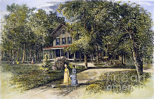House, 19th Century Print by Granger