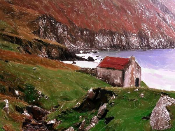 House At The Coast Print by Stefan Kuhn