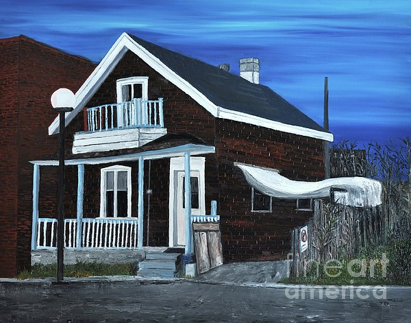 House On Hadley Street Print by Reb Frost