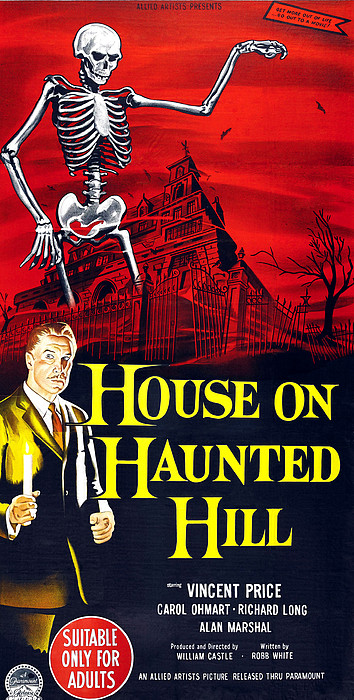 House On Haunted Hill, Bottom Left Print by Everett