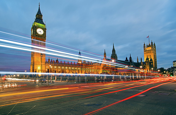Houses Of Parliament Print by Ray Wise