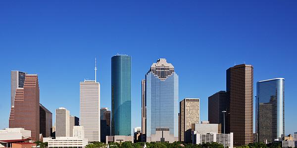 Houston Skyline Print by Jeremy Woodhouse