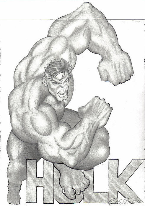 Hulk Print by Rick Hill