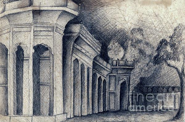 Humayun Tomb Print by Rohinibhan Challu