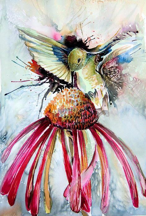 Humming Bird Print by Mindy Newman