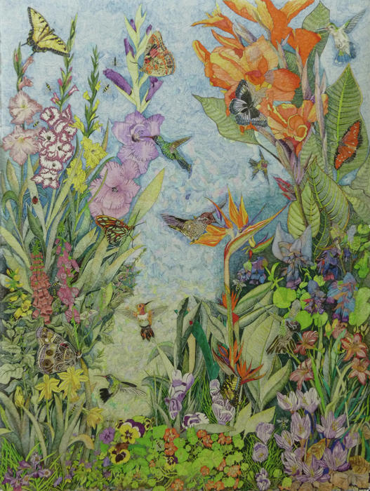 Karen Merry - Hummingbirds Bees and Butterflies
