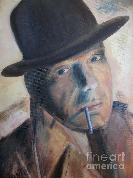 Humphry Bogart Print by Paul Galante