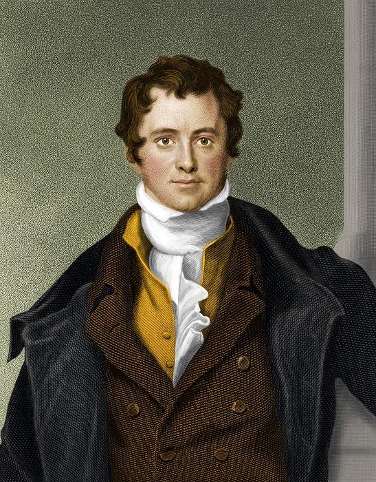 Humphry Davy, British Chemist Print by Maria Platt-evans