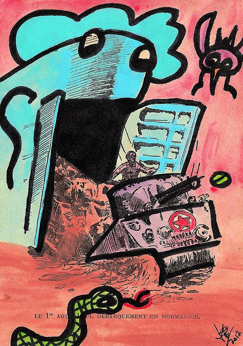 Hungry Robot Print by Jera Sky