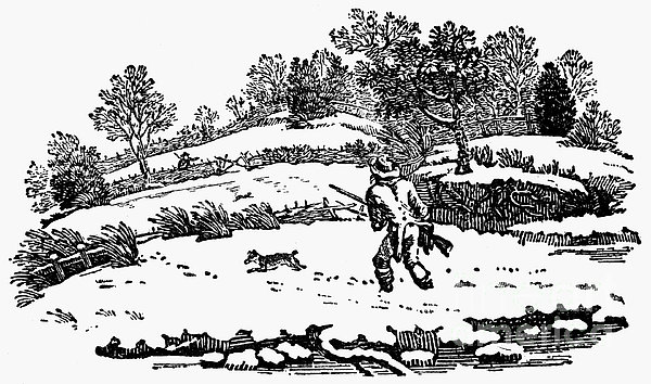 Hunting: Winter, C1800 Print by Granger