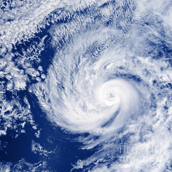 Hurricane Cosme Print by Science Source