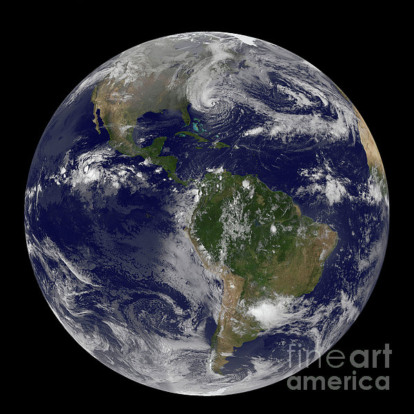 Hurricane Sandy Along The East Coast Print by Stocktrek Images