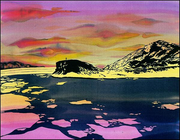 Hut Point Antarctica Print by Carolyn Doe