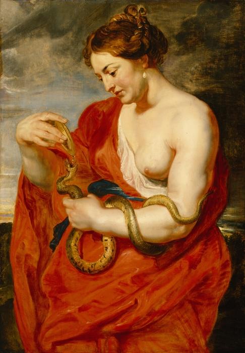 Hygeia - Goddess Of Health Print by Peter Paul Rubens