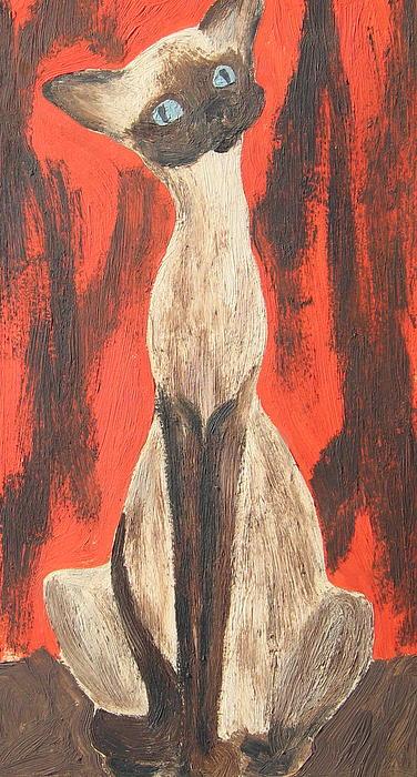I Am A Siamese If You Please Print by Marsha Elliott