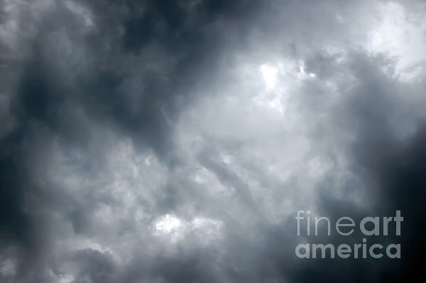 I Am No Storm Chaser Cloud Print by Andee Design