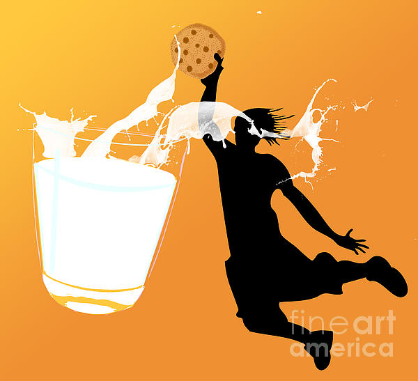 I Can Dunk Print by Laura Brightwood