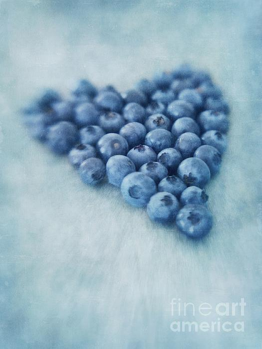 I Love Blueberries Print by Priska Wettstein