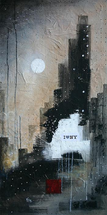 I Love Ny Print by Vital Germaine