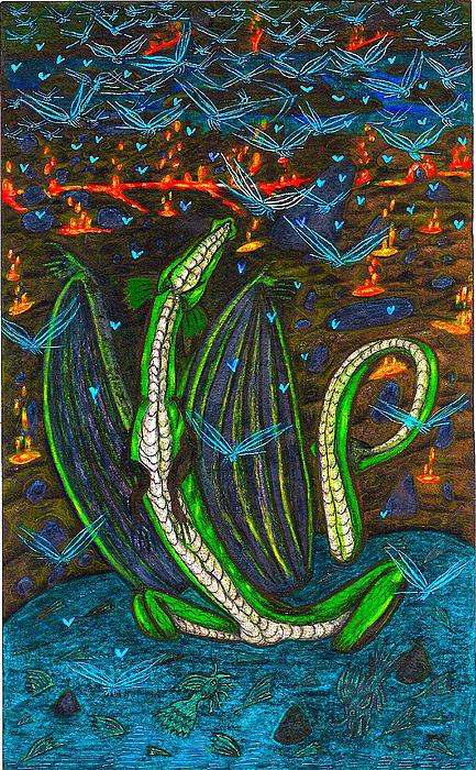 Iammyaza In His Lair Print by Al Goldfarb