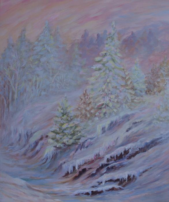 Ice Fog in the Forest Painting