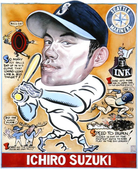 Ichiro. Print by Robert  Myers