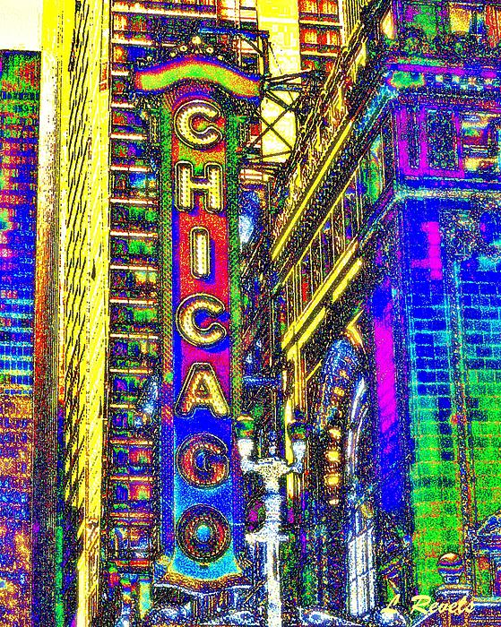 Iconic Chicago Print by Leslie Revels Andrews
