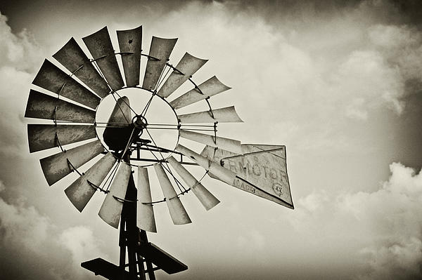 If Windmills Could Talk Print by Tony Grider