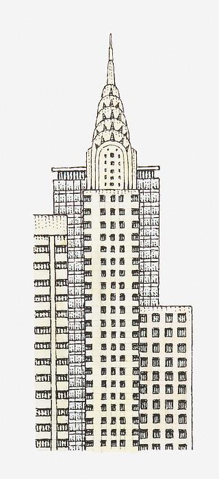 Illustration Of Chrysler Building, New York City Print by Dorling Kindersley