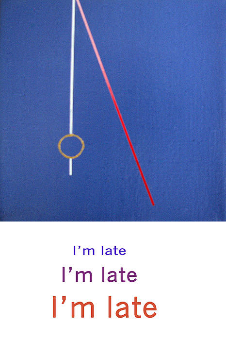 Im Late Im Late Im Late Print by Loraine LeBlanc