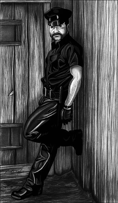 In Dark Alleys Drawing
